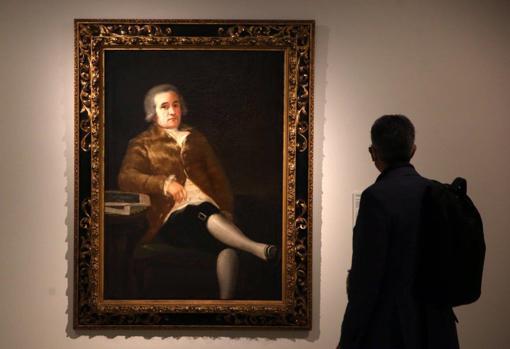 Ceán Bermúdez, portrayed by Goya.  Particular collection