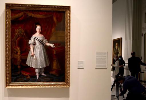 Isabel II, portrayed as a child by Antonio María Esquivel