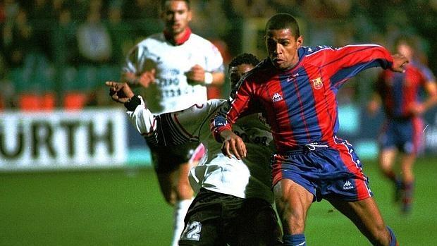 Sonny Anderson marcó el primer gol del partido en El Helmántico
