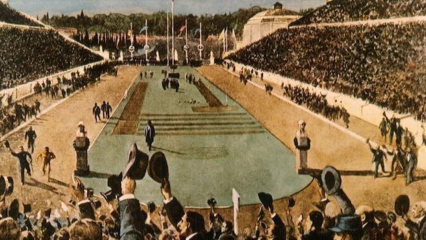 Representación de la inauguración de los Juegos de Atenas de 1896