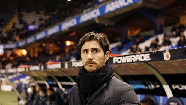 Víctor Sánchez del Amo, durante un partido en Riazor la pasada temporada