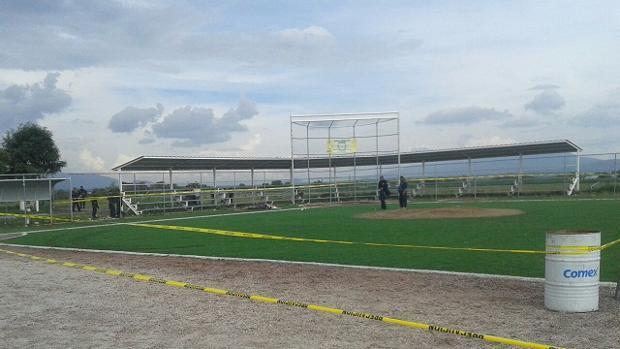 El estadio de Acatzingo, tras el incidente