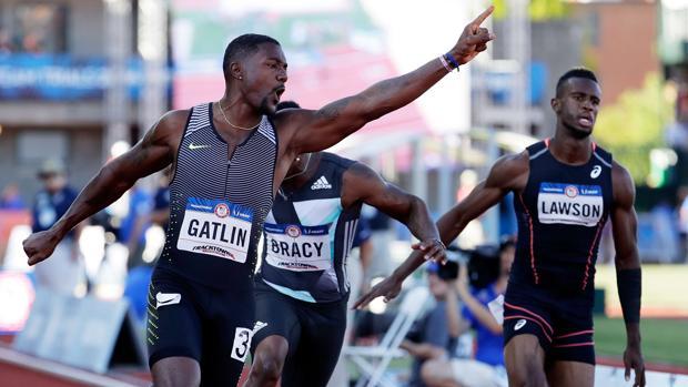 Gatlin se impone en los «trials» de EE.UU.
