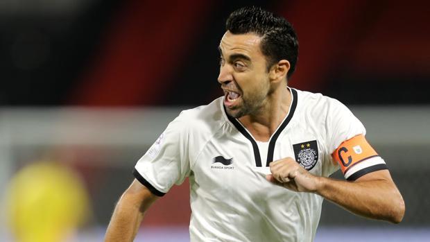 Xavi, en un partido con el Al Sadd