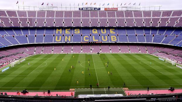 Imagen del Camp Nou durante el encuentro Barcelona-Las Palmas