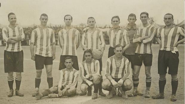Formación del Real Unión en la final de la Copa de 1918