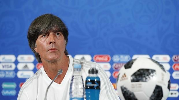 Joachim Löw en la rueda de prensa previa al partido ante Corea del Sur del Mundial
