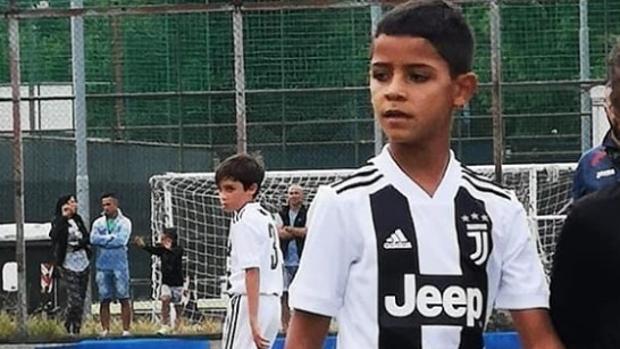 El hijo de Cristiano Ronaldo, jugando con la Juventus