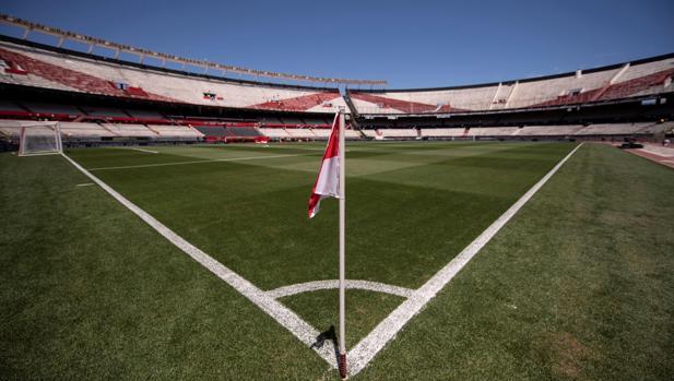 El Estadio Monumental, que este domingo debía ser el escenario del River-Boca