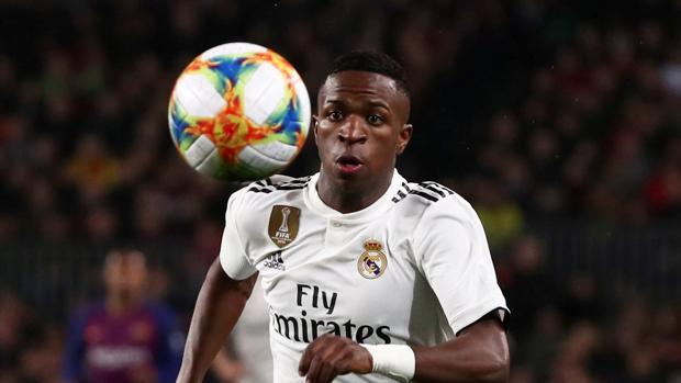 Vinicius, durante un partido del Real Madrid