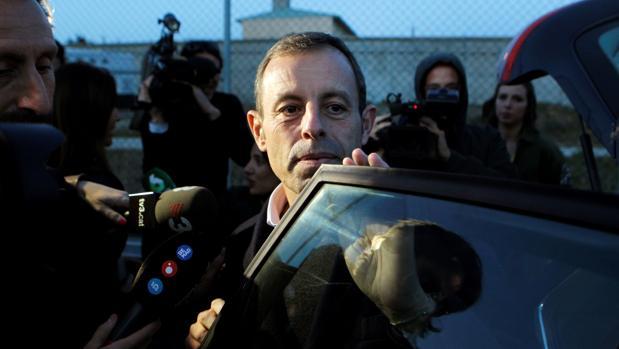 Rosell, en febrero de 2019, saliendo de la cárcel de Soto del Real