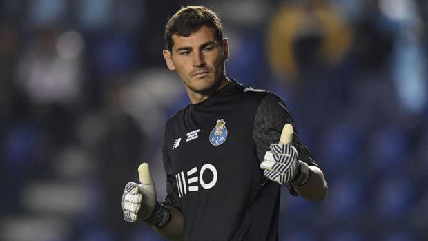 Iker Casillas durante un partido con Oporto