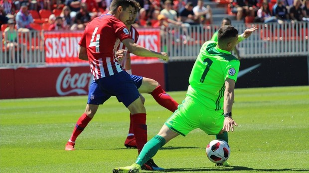 Partido entre el Atlético B y el Mirandés