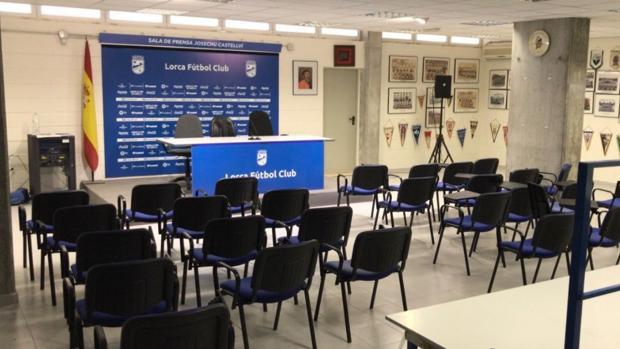 Sala de prensa del Lorca FC
