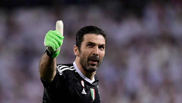 Buffon, en un partido con la Juventus