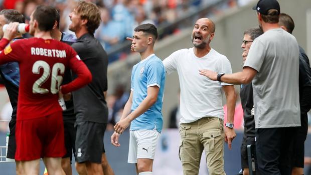Guardiola, durante el partido