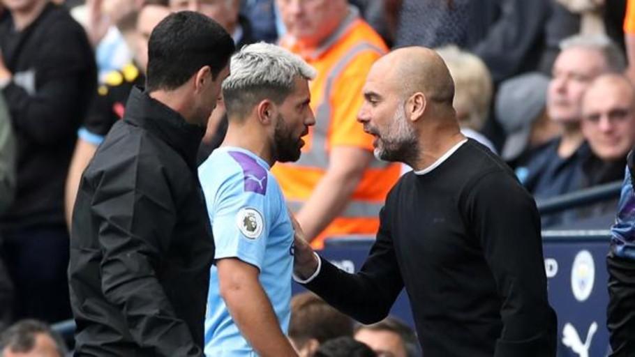 Momento de máxima tensión entre Guardiola y Agüero
