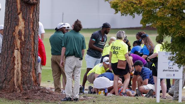 Las asistencias atienden a los heridos