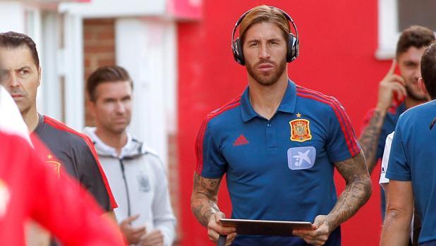 Ramos, con la selección española
