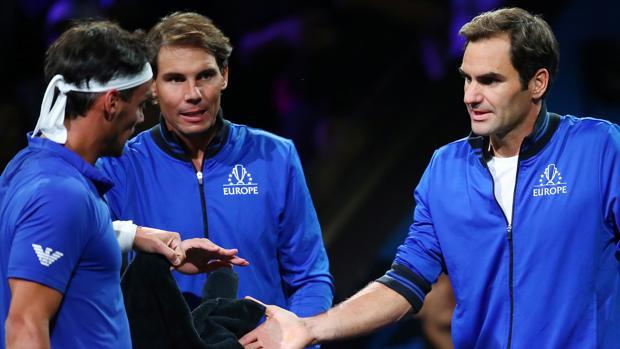 Nadal y Federer arropan a Fognini