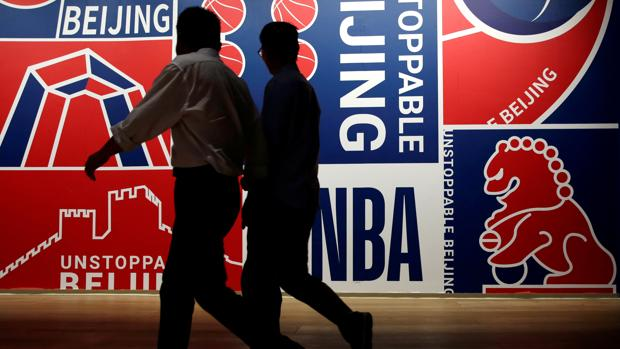 Carteles de la NBA en Pekín, China