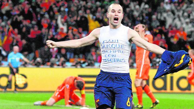 Iniesta: «Marcar ese gol no lo puedes ni soñar»