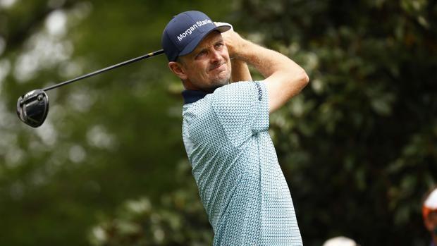Justin Rose, campeón olímpico y del Open USA, ayer durante su participación en el Masters