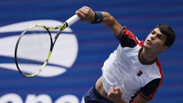 Carlos Alcaraz, con España en las finales de la Copa Davis