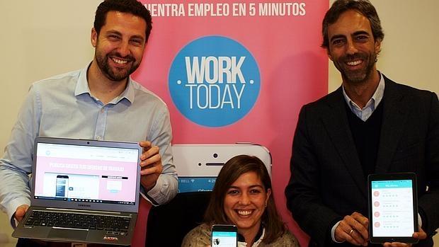 El equipo de la aplicación Worktoday