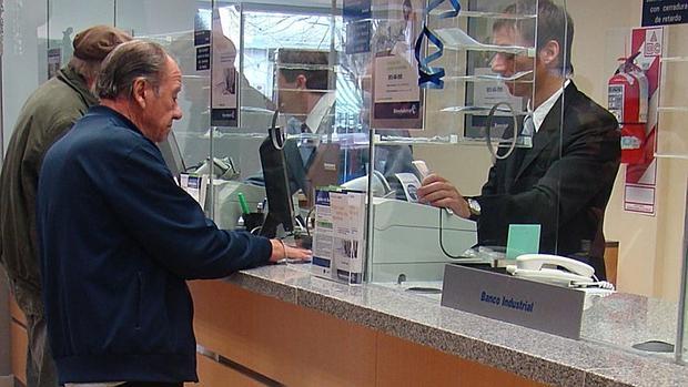 Oficina de una entidad bancaria en Madrid