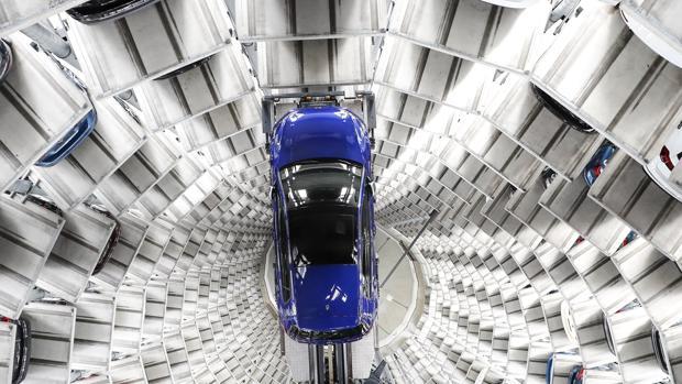 Vehículos del grupo Volkswagen en la fábrica de la compañía