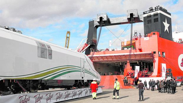 Tren de Talgo que utilizado en Arabia Saudí en el «AVE de los Peregrinos», una línea ferroviaria que unirá las ciudades de Medina y La Meca