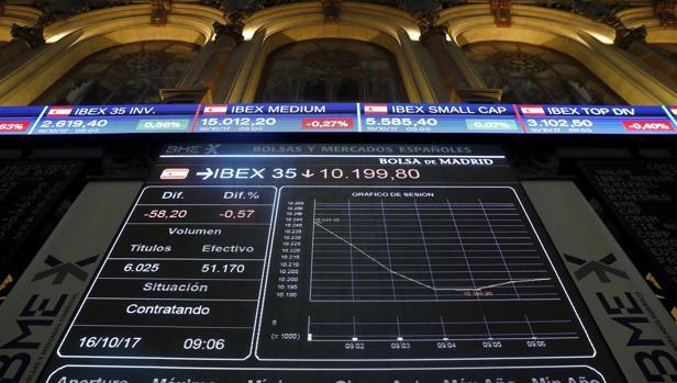 El Ibex ha cerrado este lunes a la baja (-0,75%)
