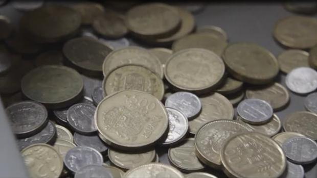 Las monedas de peseta se resisten a ser cambiadas