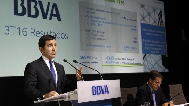 El consejero delegado del BBVA, Carlos Torres,