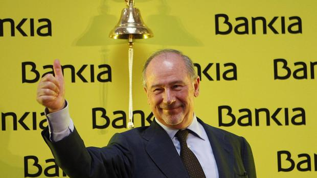 Rodrigo Rato el día de la salida a Bolsa de Bankia
