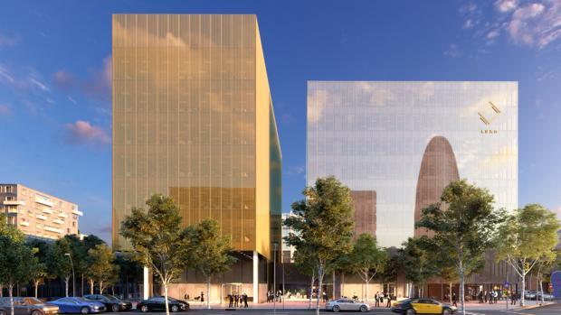 Fachada acristalada del edificio Luxa en Barcelona, uno de los últimos proyectos de Ariño en España