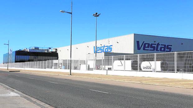 Exterior de las instalaciones de Vestas en Villadangos del Páramo (León)