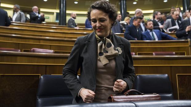 Magdalena Valerio, la semana pasada en el Congreso