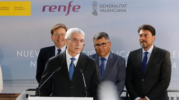 El presidente de Renfe, Isaías Táboas, en un acto en Valencia