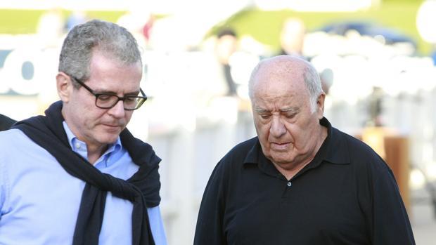 El actual consejero delegado de Inditex, Pablo Isla, y el fundador de la multinacional española, Amancio Ortega