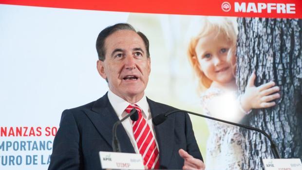 Antonio Huertas, presidente de Mapfre, en Santander