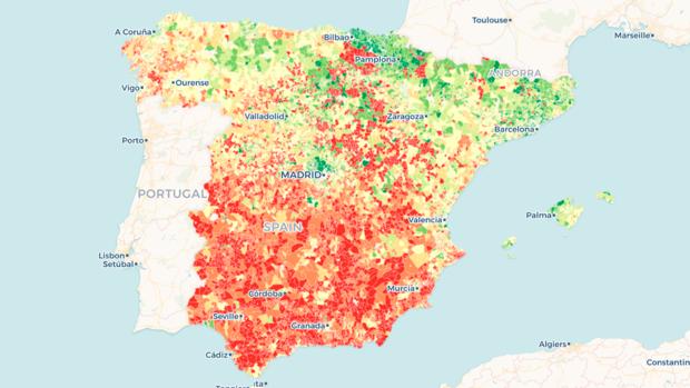 Las calles de España que dividen los barrios más ricos de los más pobres
