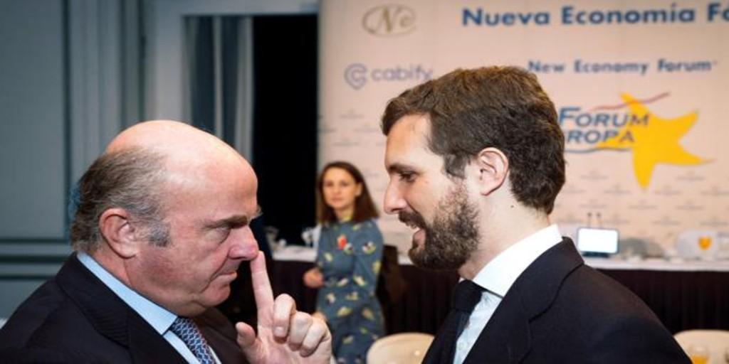 De Guindos lanza un recado al Gobierno de Sánchez e Iglesias: «Bankia debería privatizarse»