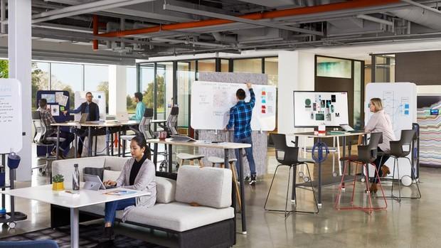 Los espacios se adaptan a una nueva forma de trabajar más colaborativa
