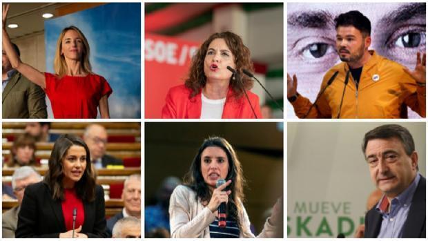 Los seis políticos que formarán parte del debate de RTVE previo a las Elecciones Generales del 28A