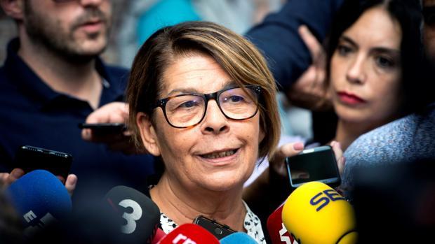 La concejala del Ayuntamiento de Madrid Inés Sabanés, de Equo, en la asamblea de Más Madrid del domingo