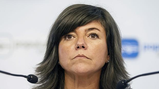 Nerea Llanos, secretaria general del PP vasco, en una comparecencia reciente