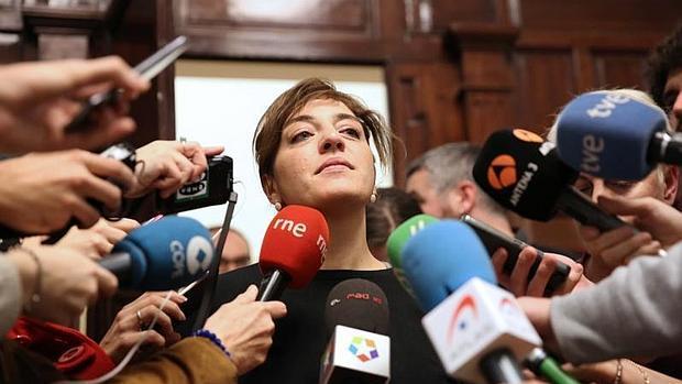 Celia Mayer, el pasado sábado, en su comparecencia en Cibeles