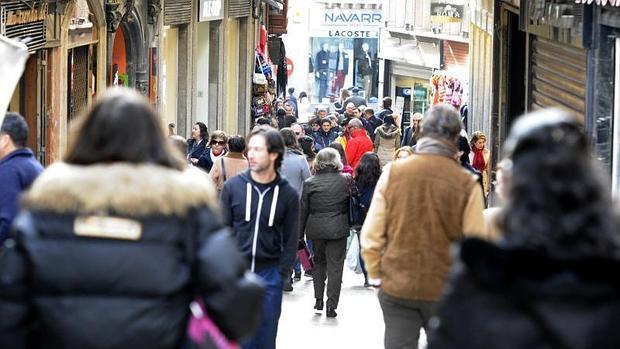 Calle Comercio, en el Casco Histórico